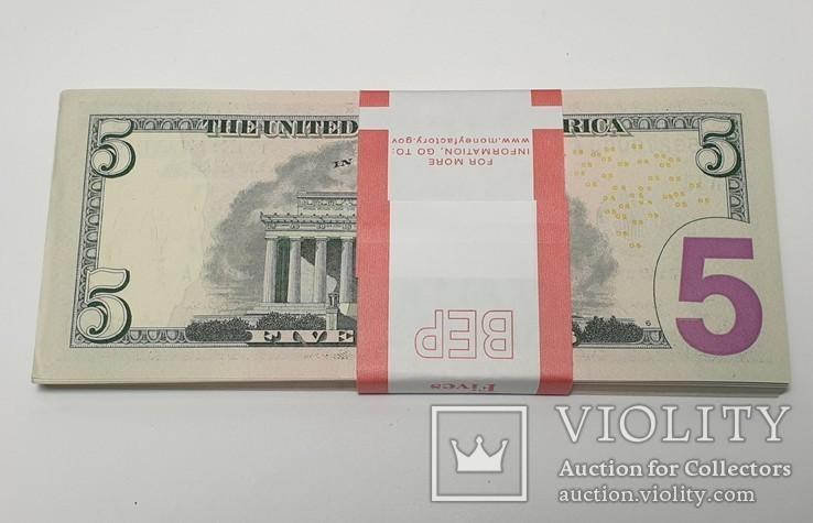 Купюры Боны 5$ 10 штук (50$) доллары США 2017 год код 4, фото №6