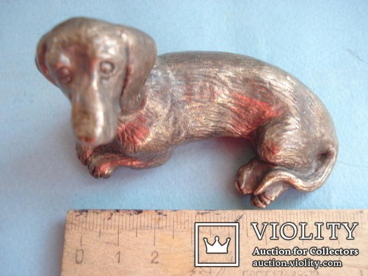Статуэтка собаки, серебро., фото №7