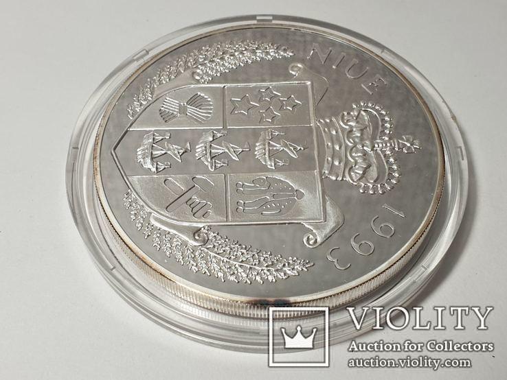 Монета 50 Dollars, 5 унций серебро 1993 Niue 1993 John F. Kennedy Apollo, фото №6