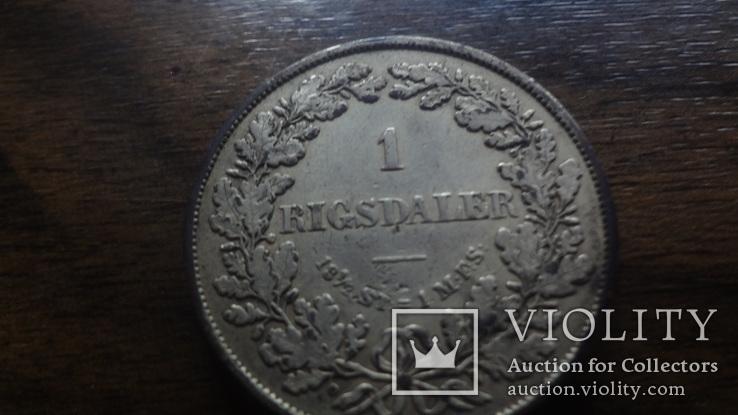 1  ригсдаллер 1855  Дания  серебро   (Лот.1.18)~, фото №3