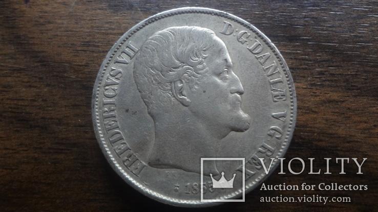 1  ригсдаллер 1855  Дания  серебро   (Лот.1.18)~, фото №6