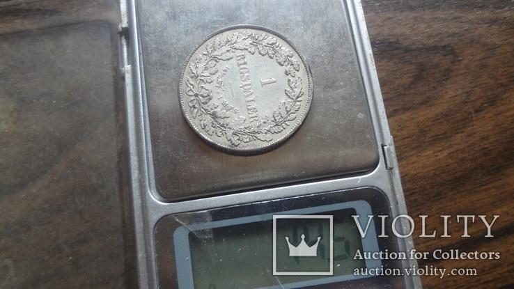1  ригсдаллер 1855  Дания  серебро   (Лот.1.18)~, фото №8