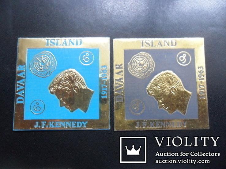 Британские колонии. остров Даваар. 1963 г. Кеннеди. MLH, фото №2