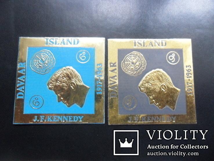 Британские колонии. остров Даваар. 1963 г. Кеннеди. MLH, фото №3