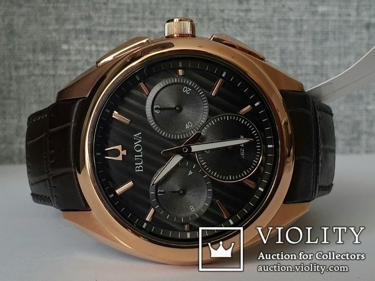 Мужские часы Bulova CURV 97A124 262kHz Chronograph Sapphire Новые, фото №2
