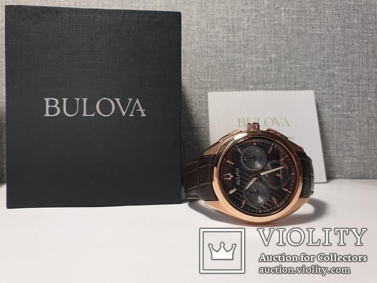Мужские часы Bulova CURV 97A124 262kHz Chronograph Sapphire Новые, фото №4