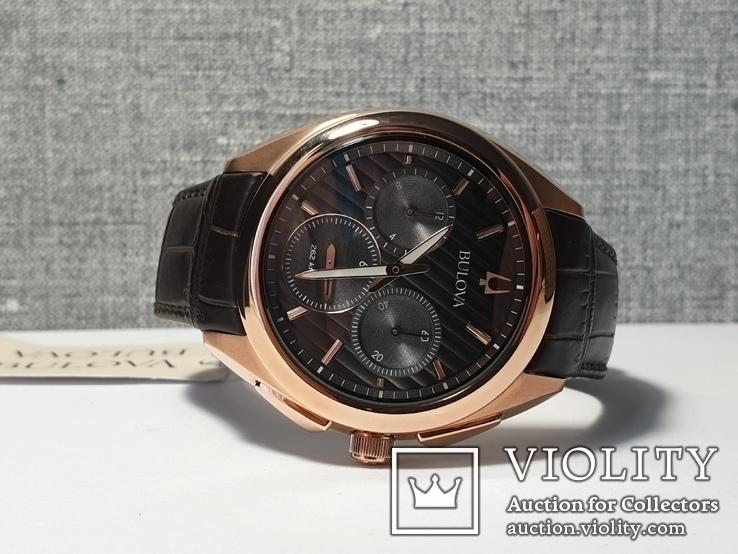 Мужские часы Bulova CURV 97A124 262kHz Chronograph Sapphire Новые, фото №5