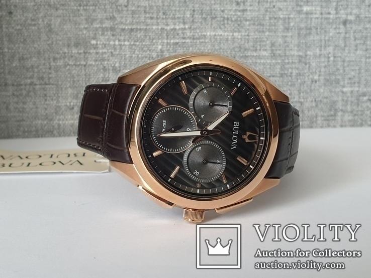 Мужские часы Bulova CURV 97A124 262kHz Chronograph Sapphire Новые, фото №6