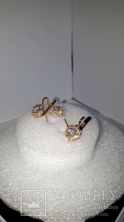 Золотой гарнитур с бриллиантами, фото №2