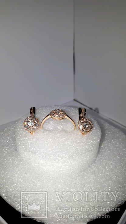Золотой гарнитур с бриллиантами, фото №4