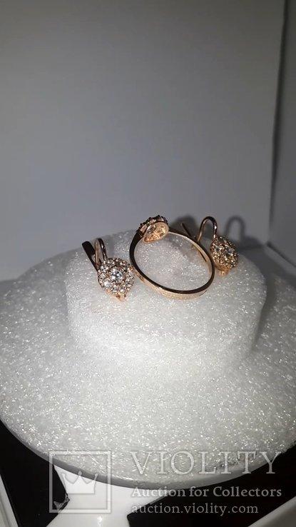 Золотой гарнитур с бриллиантами, фото №5