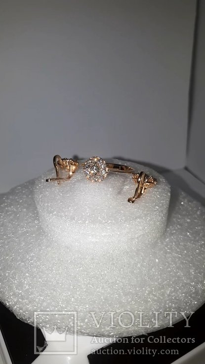 Золотой гарнитур с бриллиантами, фото №6