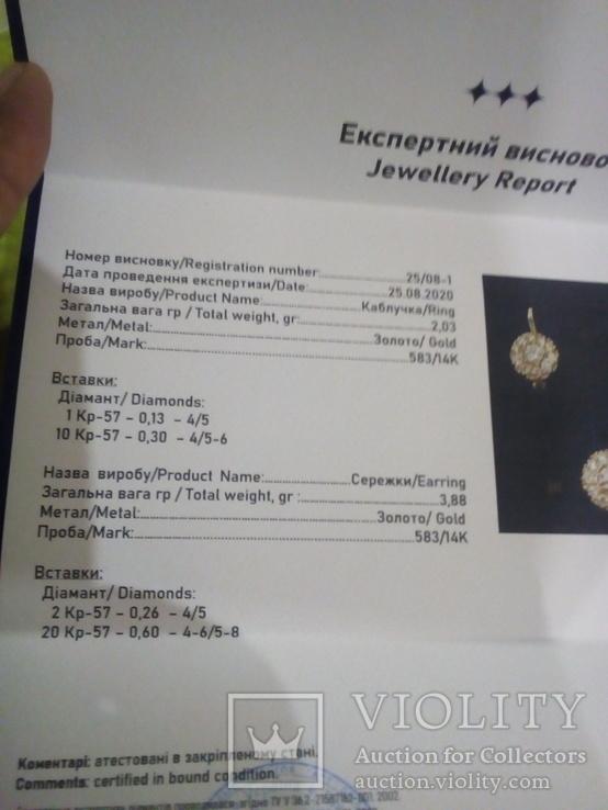 Золотой гарнитур с бриллиантами, фото №9