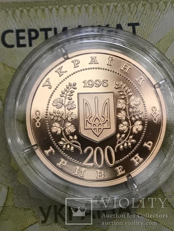 Тарас Шевченко, 200 гривень, золото 1/2 унції, фото №4