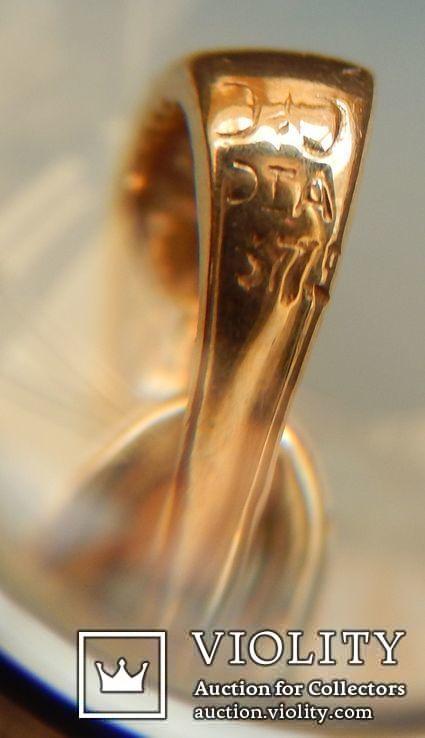Кулон с бриллиантом 0,1 карат, золото 375 пробы, Италия, фото №9