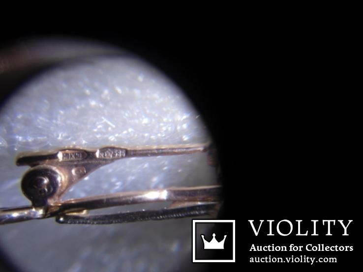Брошь с натуральными бриллиантами и изумрудами, фото №12