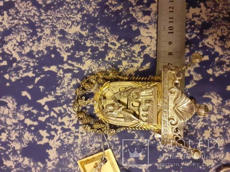 Серебрянная икона-статуэтка с позолотой, фото №5