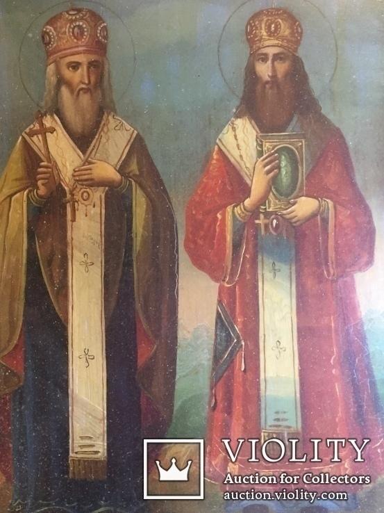 Икона Св. Кирилл и Св. Афанасий, фото №4