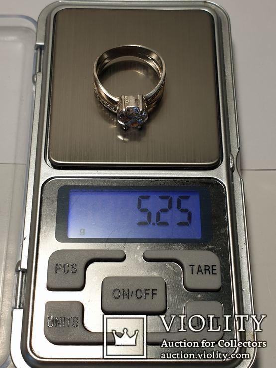 Серебряный набор серьги кольцо браслет ( серебро + золото) 925 и 375 пробы, фото №3