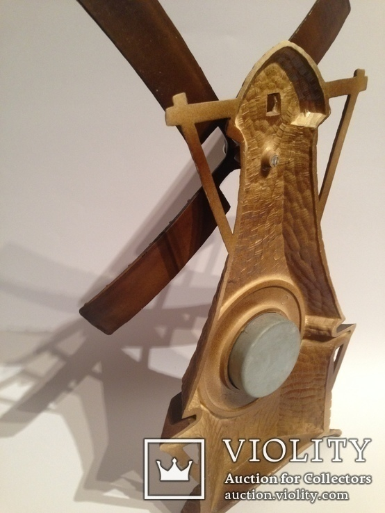 Винтажный барометр мельница, фото №5