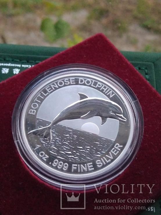 Дельфін Дельфин 2020 г 1 доллар 1 oz Унция Серебро Австралия, фото №2