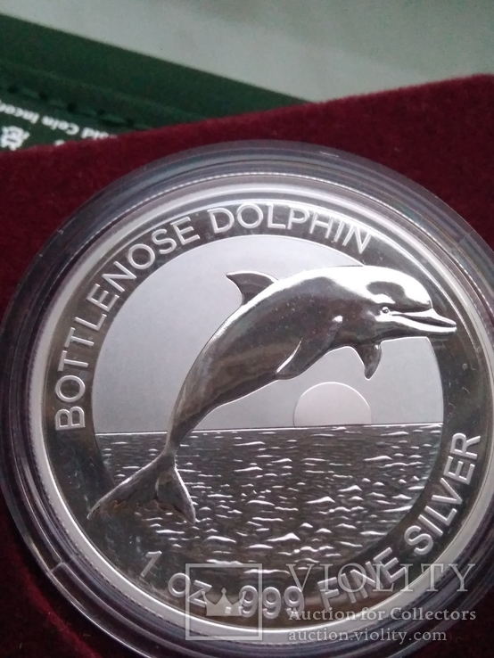 Дельфін Дельфин 2020 г 1 доллар 1 oz Унция Серебро Австралия, фото №4