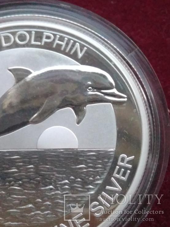 Дельфін Дельфин 2020 г 1 доллар 1 oz Унция Серебро Австралия, фото №6