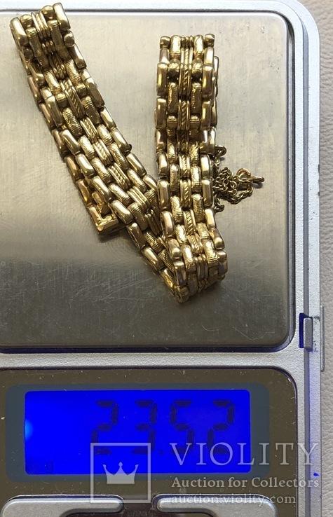 Женский браслет Россия золото 23,52 грамма 56', фото №3