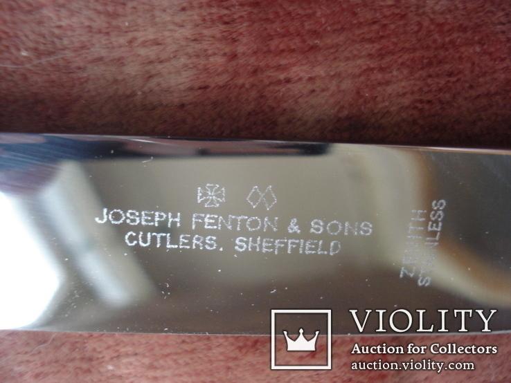 Joseph Fenton & Sons Ltd Sheffield набор столовых ножней., фото №7