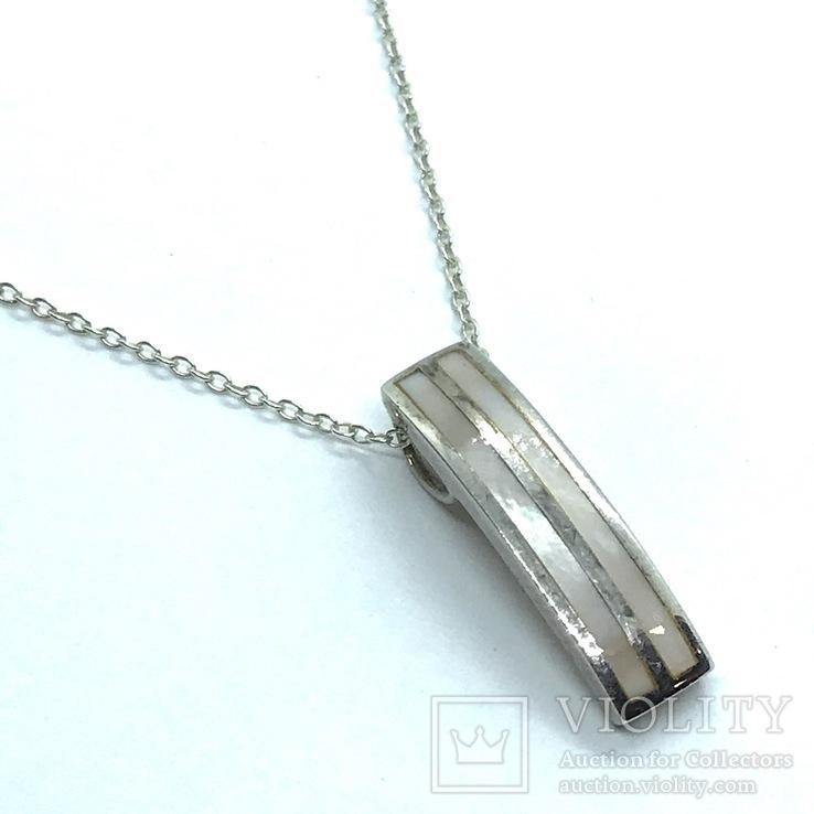 Подвес серебро на цепочке, фото №2