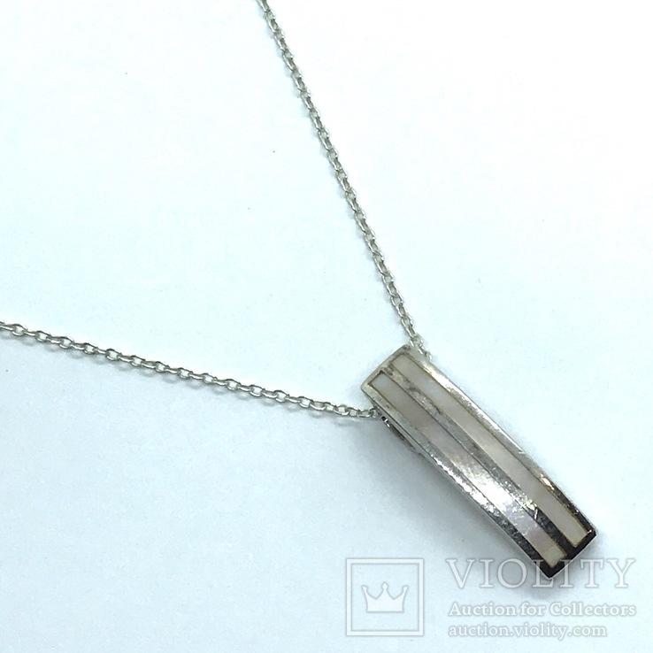 Подвес серебро на цепочке, фото №4