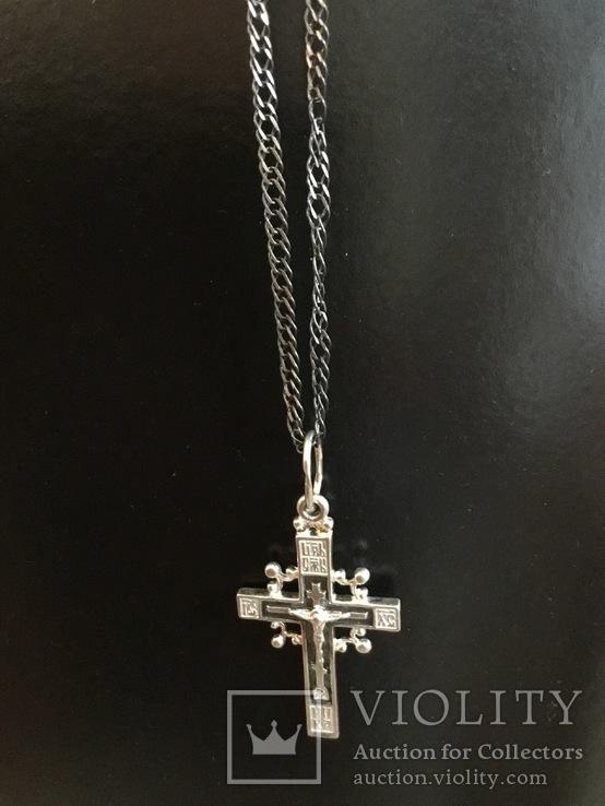 Крестик на цепочке, фото №2