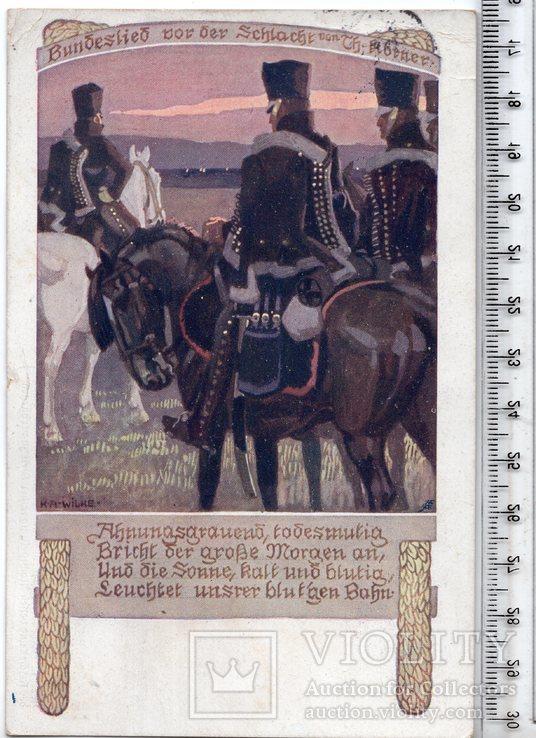 Первая мировая. Агитационная открытка. н. 1916 год.(3), фото №2