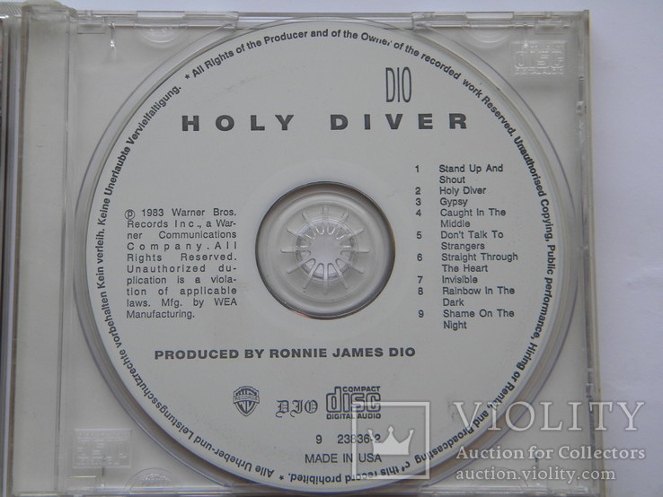 CD. DIO - Holy Diver. Made in U.S.A., фото №5