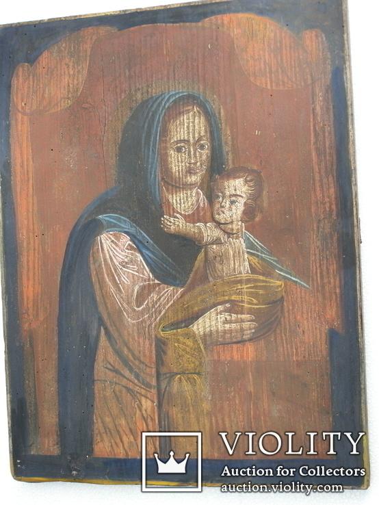 Богородица 19ст. 400мм.Х310мм, фото №2