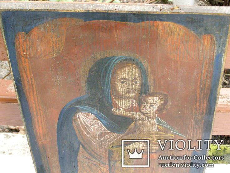 Богородица 19ст. 400мм.Х310мм, фото №3