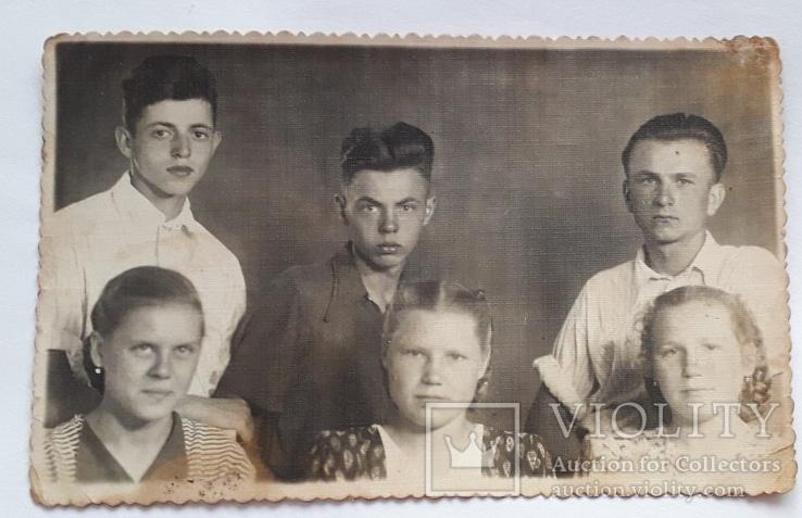 """Фотография """"Практиканты"""" (1954 год перегон Рудня-Почаевская-Заблотце) 13.5*8.5, фото №2"""