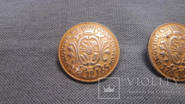 Две большие гербовые пуговицы, фото №3