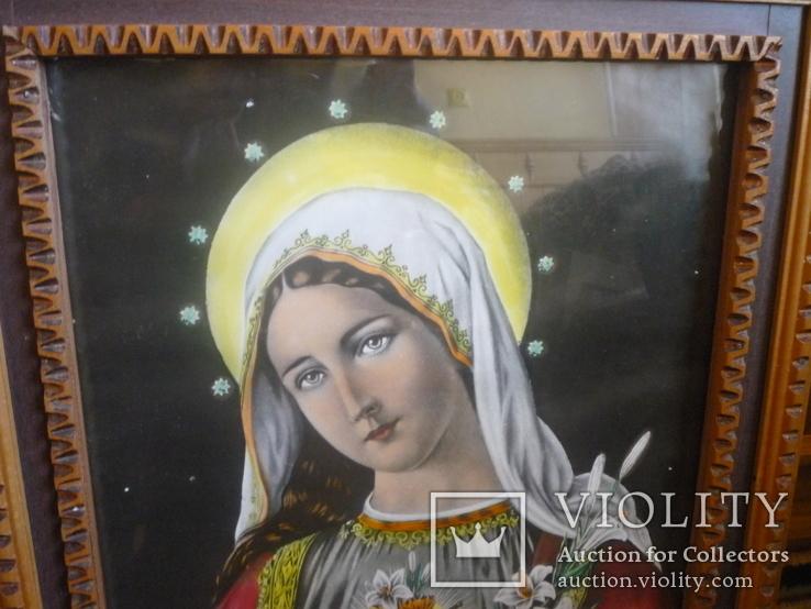 Старая картина икона, фото №3