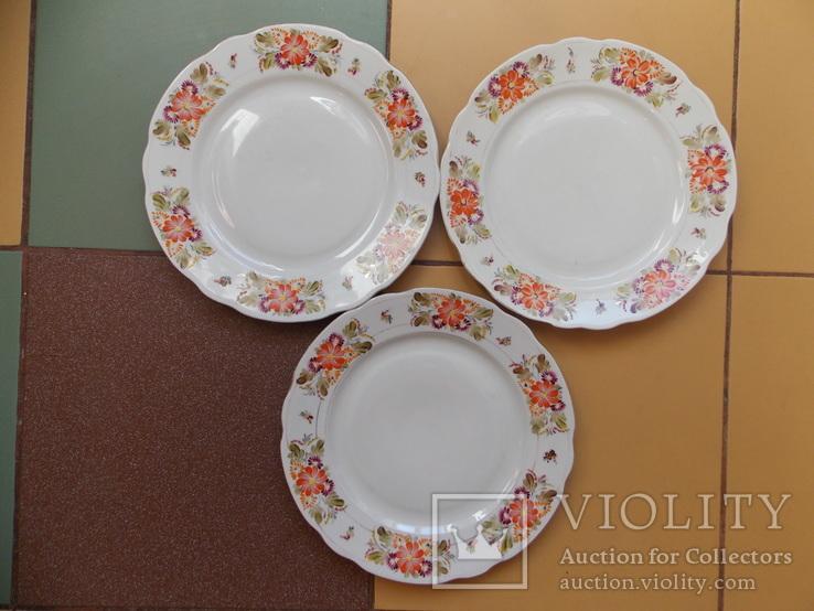 3 (три) тарелки. Коростнь 1953-57 гг. Авторская роспись., фото №2