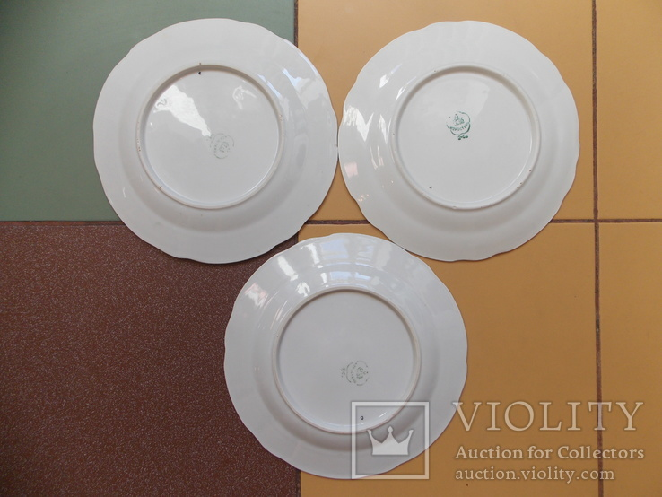 3 (три) тарелки. Коростнь 1953-57 гг. Авторская роспись., фото №5