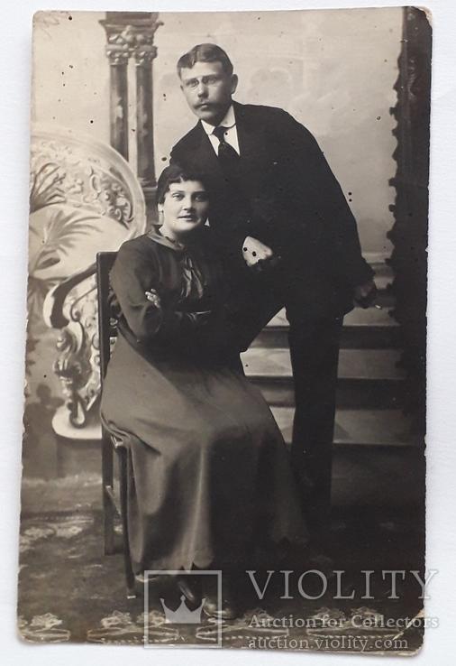 Фотография старинная семейная (8.7*13.5), фото №2