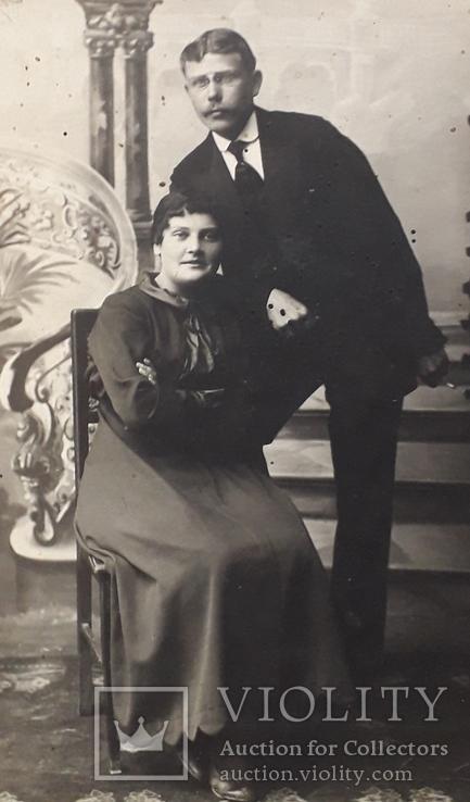 Фотография старинная семейная (8.7*13.5), фото №3