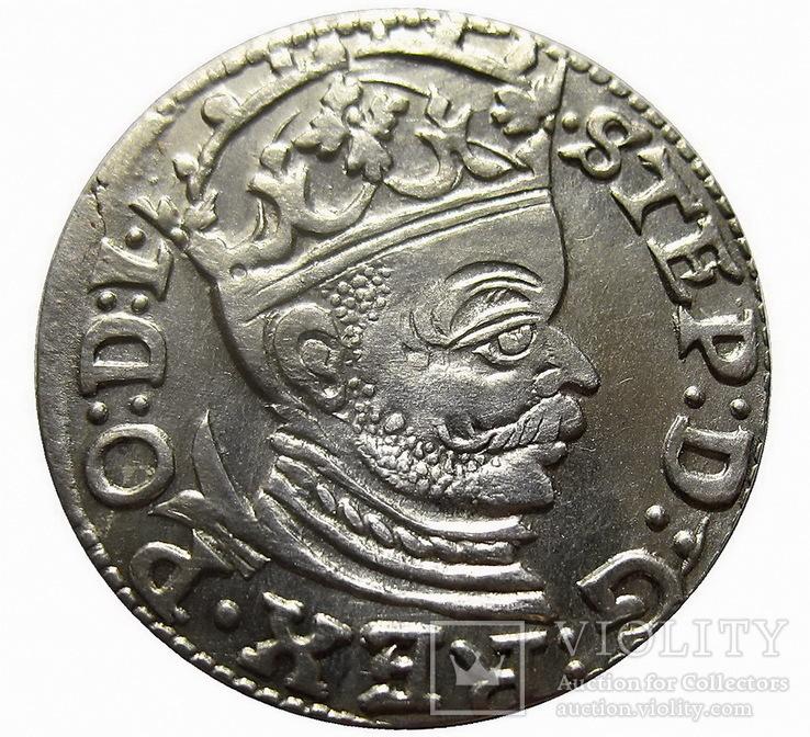 Трояк 1583 г. (Рига), Стефан Баторий (UNC)