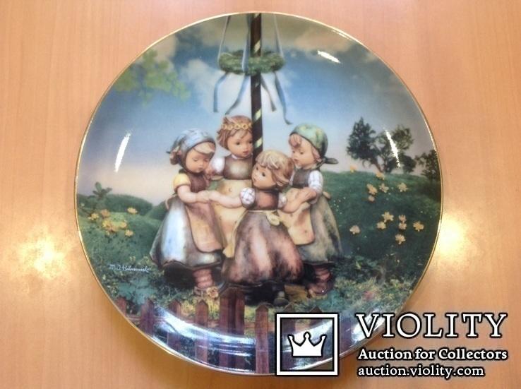 """Коллекционная тарелка """" Хоровод"""" / номер, клеймо/., фото №2"""