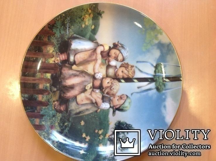 """Коллекционная тарелка """" Хоровод"""" / номер, клеймо/., фото №6"""
