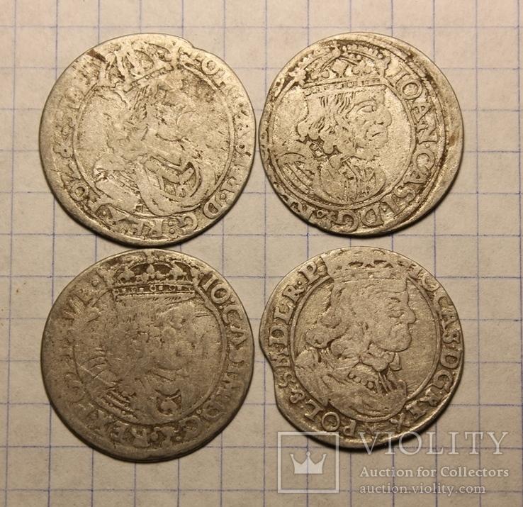 Шестаки Яна Каземира 1660.1661.1662.1662 гг.