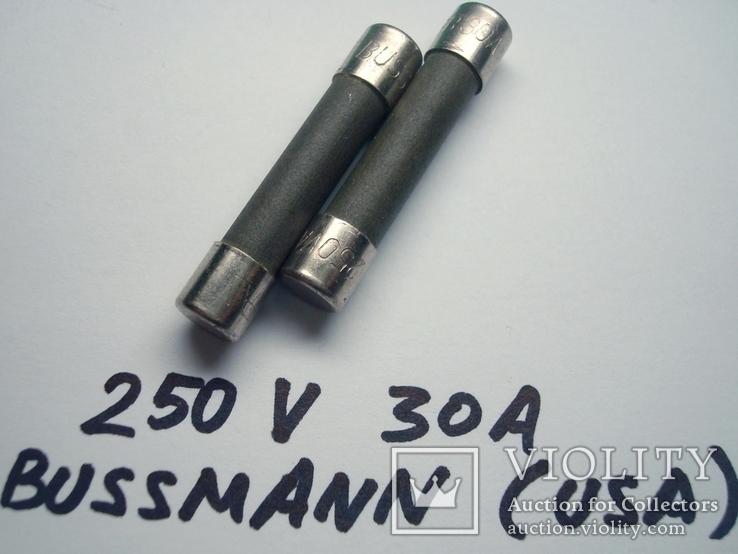 Предохранитель 30A 250VA Bussmann, фото №2