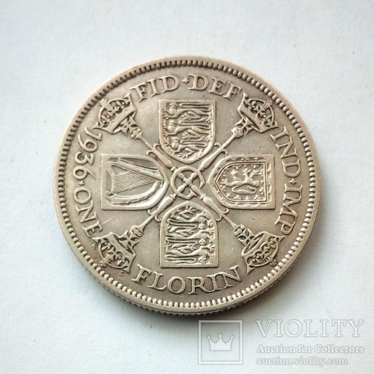 Великобритания 1 флорин 1936 г., фото №3