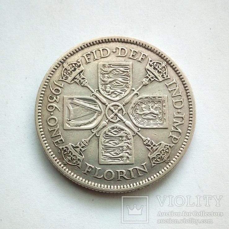 Великобритания 1 флорин 1936 г., фото №5
